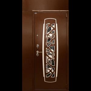 Стальная дверь ДС3У с полкой и фрамугой-отделка Магия