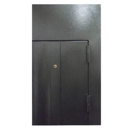 Стальная дверь ДС 2 с фрамугой и кованными элементами