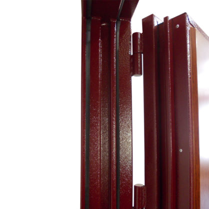 Сплошной противосъёмный лабиринт стальной входной двери ДС 4