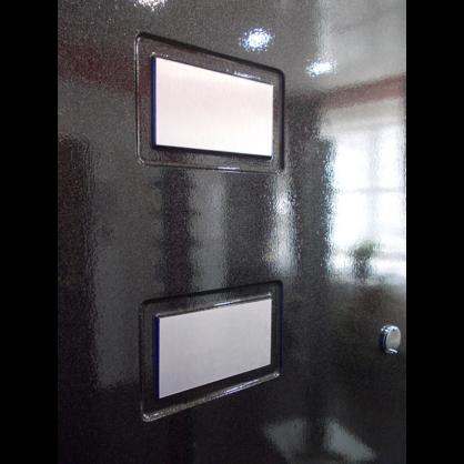 Металлизированные вставки на панели