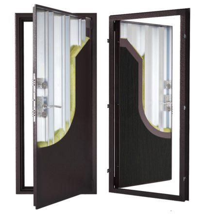 Стальная дверь ДС 2 с внутренней отделкой 6ПЭ-тёмный венге