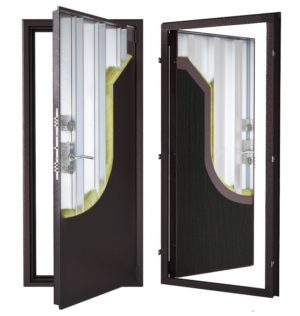 Стальная дверь ДС 9 с внутренней отделкой 6ПЭ-тёмный венге