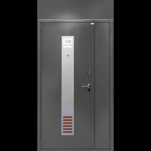 Двухстворчатая дверь ДС 2 с фрамугой -отделка №159