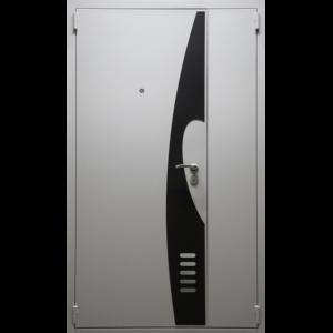 Двухстворчатая дверь ДС3 с отделкой №156