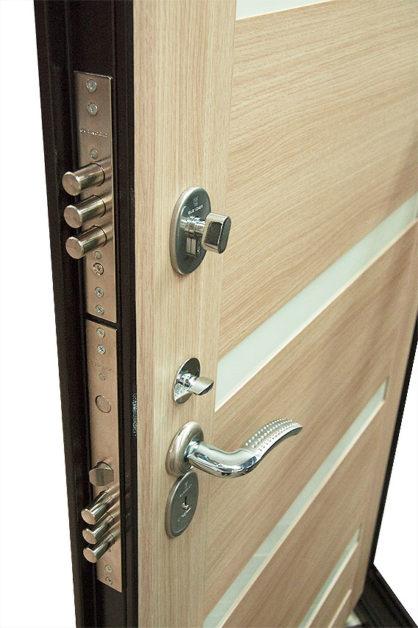 Замки на двери ДС 2 16 ЭКО белёный дуб