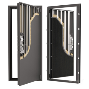 Стальная дверь ДС 9У с панелью венге тёмный
